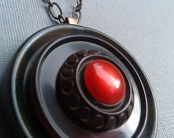Red & Brown Vintage Pendant