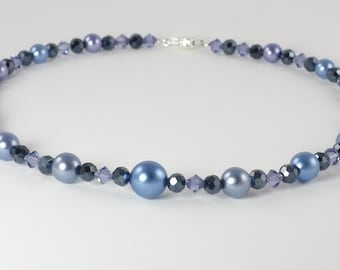 Midnight Blue and Purple Necklace