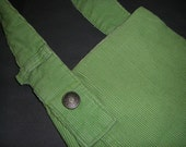 Upcycled Lands End Lime Green Corduroy Pants Purse