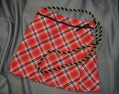 Upcycled Skirt Purse Red and Black Plaid