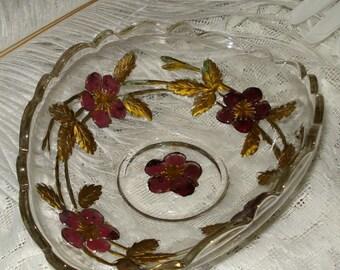Small Goofus Glass Basket Dish