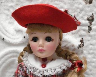 """Vintage 1982 Effanbee 11"""" Doll Lil Kitten Teachers pet"""