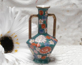 Small Miniature Vase Japan Hand Painted