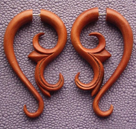 DAYA Earrings - Organic Fake Gauges - Reduced price (Flawed)