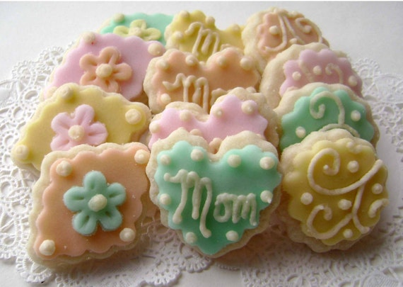 Mother's Day Sugar Cookies - Pastel - Mini Bites