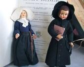 Italian Religious Dolls - Catholic Nun and Monk