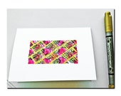 Hand drawn Folded Notecards