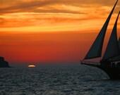 Mediterranean Sunset 8x10 print