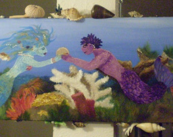 The Mermaid's Treasure - An Original Painting