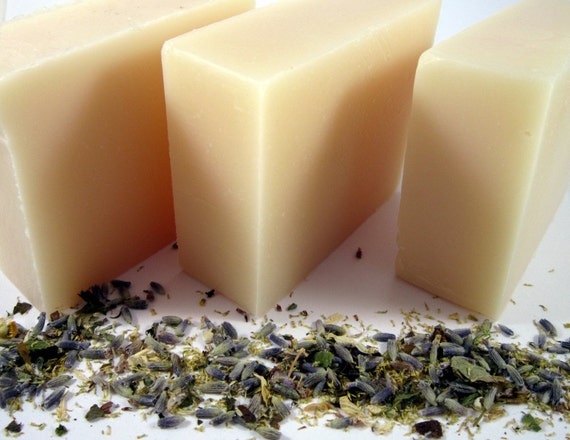Cold Process Soap with How To Recipe - Lavender- All Natural, Vegan and Handmade- No Artificial Colors or Fragrance