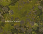 Oversize wallet- Green Batik