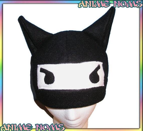Anime Kitty Ears Anime Ninja Kitty Hat Black