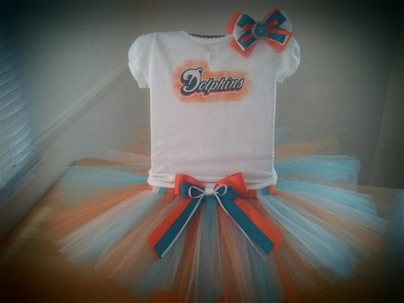 Miami Dolphins inspired tutu outfit