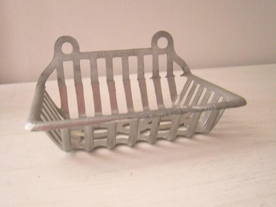 vintage french aluminum soap dish