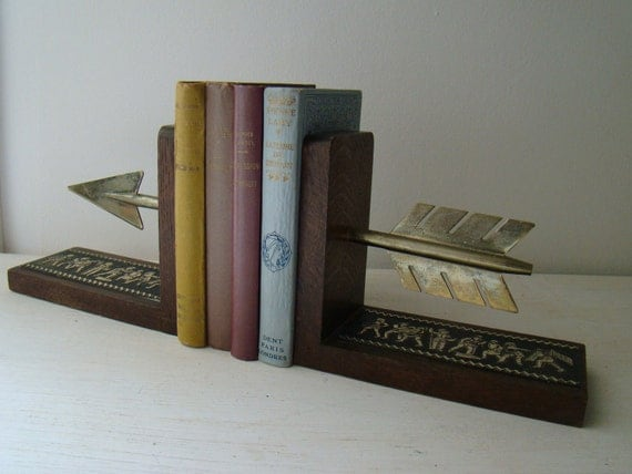 vintage arrow bookends
