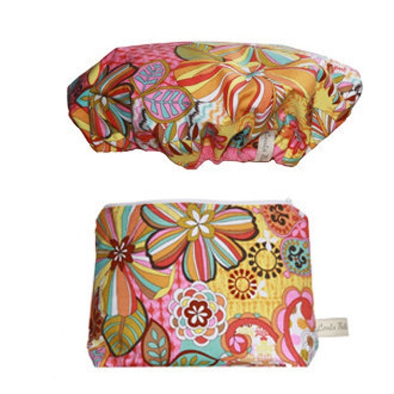 LESS than HALF PRICE  Wash Bag and Shower Cap Gift Set - Summer of Love