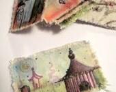 stocking stuffer circus hand painted bookmark