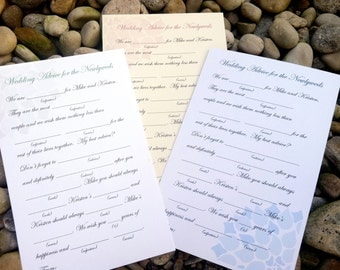 DIY Printable Wedding Mad Libs (or printing service optional) - Colored Flower Blooms