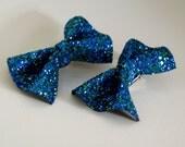 Glitter Hair Bow Pair - Mermaid