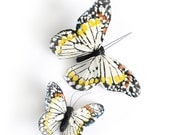 Monarch Butterfly Clips - Ivory