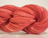 Red Tie Dye Upcycled T-Shirt Yarn (tarn), 32 yards, Bulky Weight