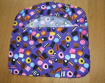 Liquorice Allsorts Blue/Purple Cotton Peg Bag