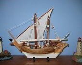 Wooden Ship Model Hawaiian/Oceania LATEEN Proa Type