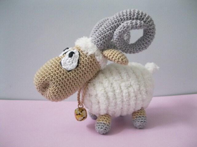 Amigurumi Horns : RESERVE Amigurumi Cute little mutton Snejok