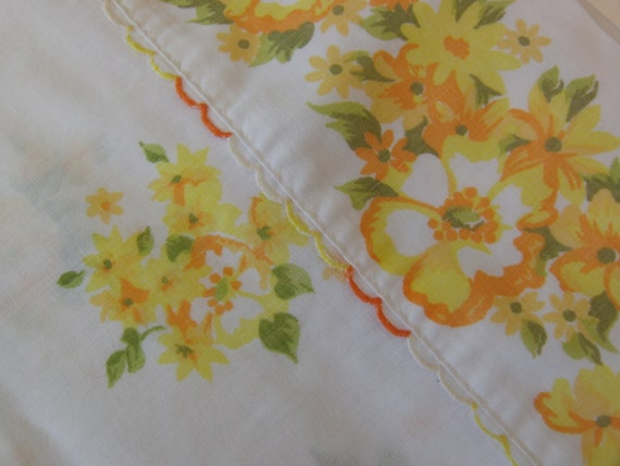 Shabby Chic Vintage Floral Full Flat Sheet