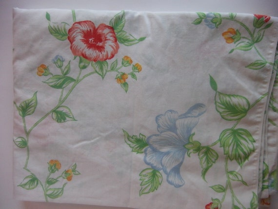 Shabby Chic Vintage English Garden Twin Flat Sheet