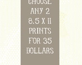 "Choose any 2 8.5""x11"" prints"