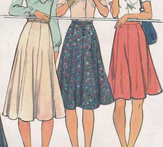 70's Sewing Pattern Butterick 4139 Miss Gore Skirt four lengths Size 30 Waist 30 Hip 40 COMPLETE