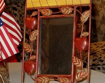 """Vintage Iron Apple Iron Photo Frame 7""""x10"""""""