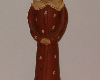 "Vintage Statue of Liberty, Paper Mache, Wood, Folk Art, 1980's, 7.5""H"