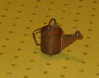 """Vintage Miniature Copper Watering Can, 1970's, 1""""H, Very Detailed, Realistic, Sweet"""