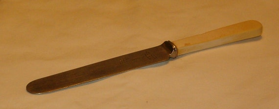 Vintage Ivory Handled Knife, Sheffield Firth Stainless, Southern & Richardson