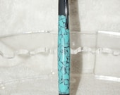 Hand Made Chrome CEO Twist Pen With Crushed Turquoise Acrylic