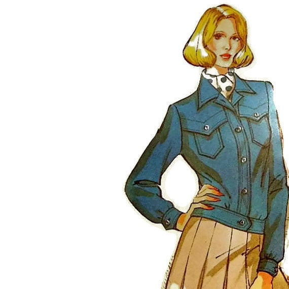 Kwik Sew 843 sewing pattern misses jacket size 6-12 vintage uncut fabulous retro