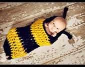 Baby Crochet Bumble Bee Cocoon Bumblebee Photography Prop - Treasured Little Creations