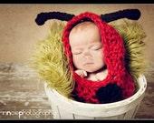 Baby Crochet Lady Bug Cocoon Ladybug Photography Prop - Treasured Little Creations