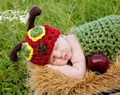 Baby Crochet Hungry Caterpillar HAT ONLY Photography Prop - Treasured Little Creations