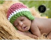 Baby Crochet Watermelon Hat Spring Summer Photography Prop - Treasured Little Creations