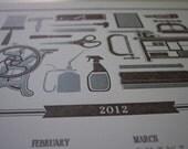 For the Love of Letterpress 2012 Wall Calendar