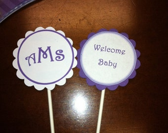 Baby Shower Cupcake Wrappers and Toppers