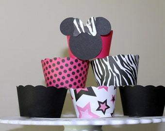 Minnie Mouse with Stars, Polka dots and Solids