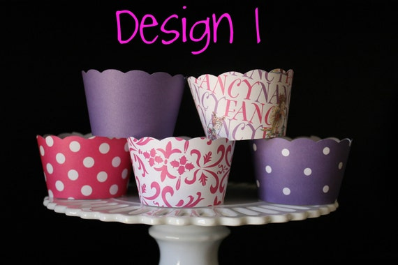 New Fancy Nancy Design Cupcake Wrappers