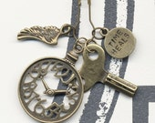 Time Heals - Change it Charm - Hand Stamped - FREE CHAIN INCLUDED