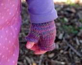 Fingerless mittens for children - READY TO SHIP - size 2
