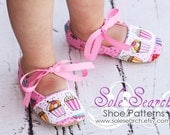 PATTERN, Soft Sole Shoe with Ribbon Ties and Ribbon Embellishment on Toe, 7 sizes to age 2, Detailed Tutorial and Step by Step Photos