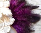 Purple & Black - Marabou FLUFF (18)
